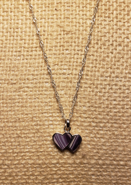 Sterling Silver Double Heart