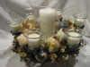 Shell Centerpiece Multi-Candle